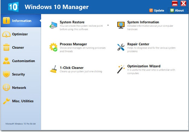 Yamicsoft Windows 10 Manager 3.2.4 Free Download
