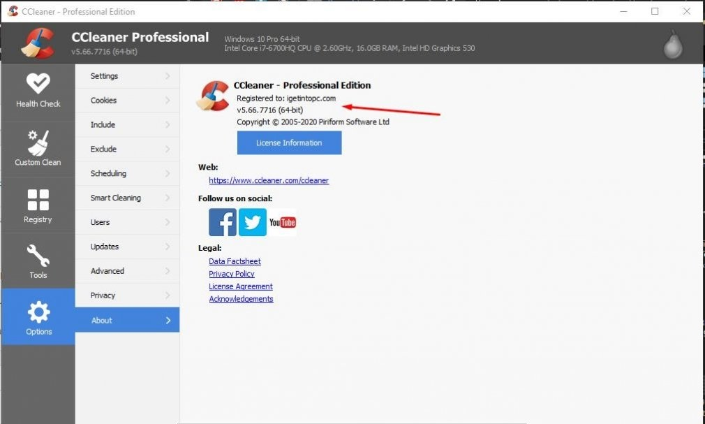 Download CCleaner Professional Edition - Clean up temporary files