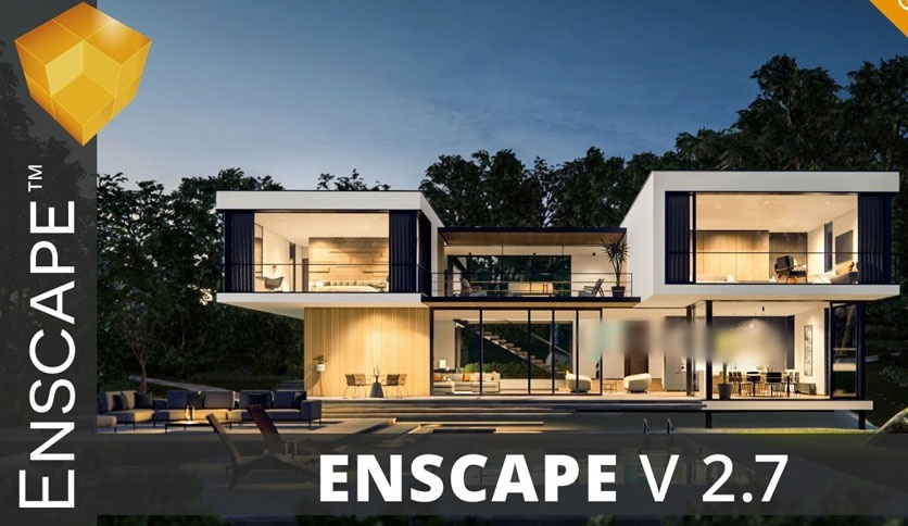 Free Download Enscape 3D 2.7.0.18848 for Revit / SketchUp / Rhino / ArchiCAD - VR and realtime rendering plugin Full Version